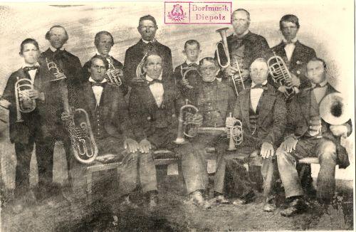 1862: Erstes Foto der Dorfmusik Diepolz